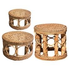 Pot-Holder Flower-Pot Plant Indoor-Plant-Stand Rattan Hand-Woven Gardening-Interior-Decor