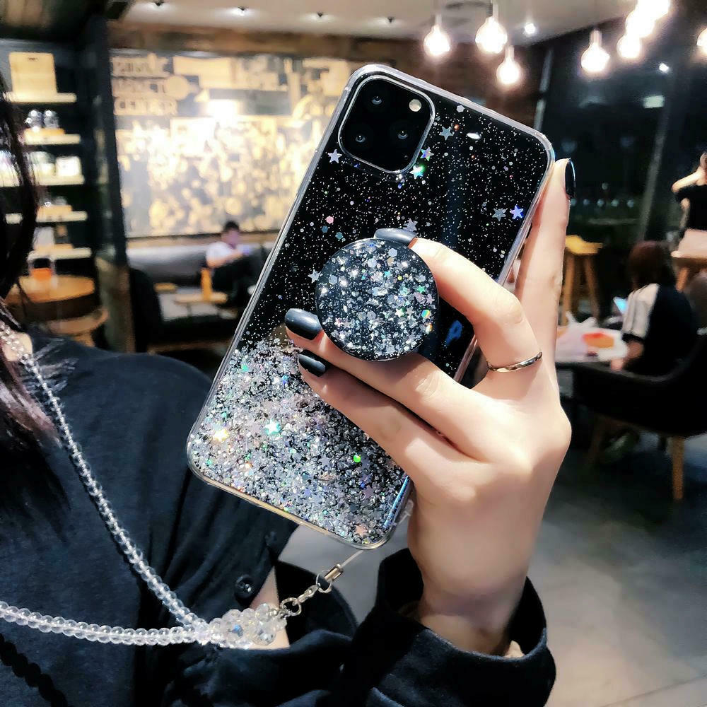 Unique Glitter Case for iPhone SE (2020) 53