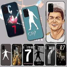 PENGHUWAN CR7 logo cristiano ronaldo 7 TPU black Phone Case Cover Hull for Samsung S20 plus Ultra S6 S7 edge S8 S9 plus S10 5G(China)