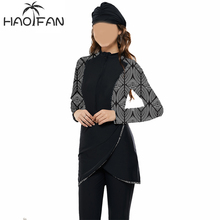 Hao Fan Women Full Coverage Muslim Swimwear Islamic Swimsuit Beach Modest Swimsuits