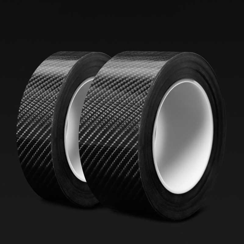 Nano Carbon Fiber Car Sticker DIY Door Sill Anti Scratch Protector Tape