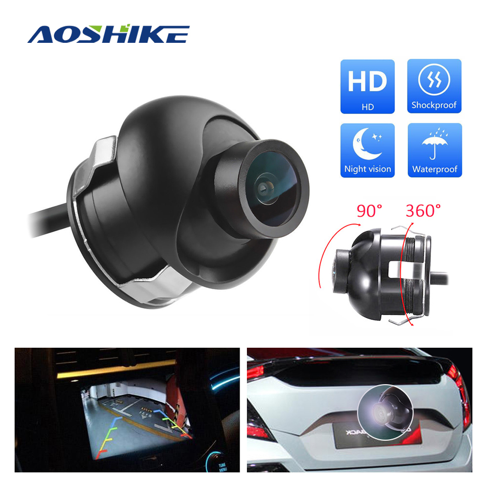 AOSHIKE HD 360-Degree Adjustable Car Camera For Blind Zone Reversing Photography Backup Reversing Camera IR Lens Night Vision