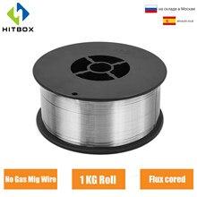 HITBOX Mig Fil À Souder Soudage 0.8mm 1KG Pas De Gaz de Soudure Fils Fer Acier Mag Consommable E71T-GS Accessoires