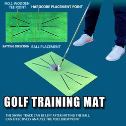 Golf Training Mat for Swing Detection Batting Mini Golf Practice Training Aid Game and Gift for Home Office Outdoor Use Mat Pad
