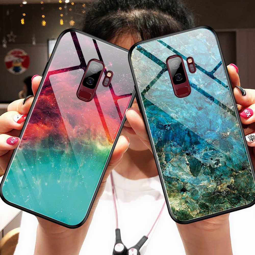 Чехол Heyytle из закаленного стекла с градиентом для samsung Galaxy S9 S10 Plus A70 A50, чехол с рисунком звездного неба для Note 9 A60