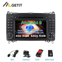 DSP 64G PX6 Android 9.0 Car DVD multimedia Radio GPS for Mercedes Benz B200 W169 W245 Viano Vito W639 Sprinter W906 VW Crafter