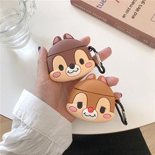 For AirPod 2 Case 3D Chipmunk Animal Cartoon Soft Silicone Wireless Earphone Cases Apple Airpods Cute Cover Funda