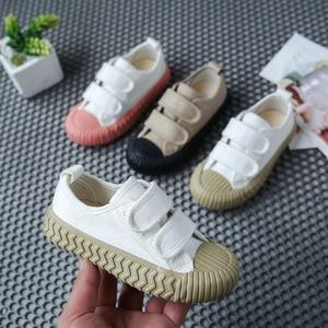 Image 2 - 春の秋の子供スニーカーキャンバスシューズ子供のスポーツの靴女の子少年靴