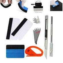 Ferramentas coloridas para janela de carro, 2/5/6/7 unidades ferramentas magnéticas para apertar lâminas de fibra de carbono ferramenta envoltório de vinil para filme, adesivo, ferramenta de embrulho
