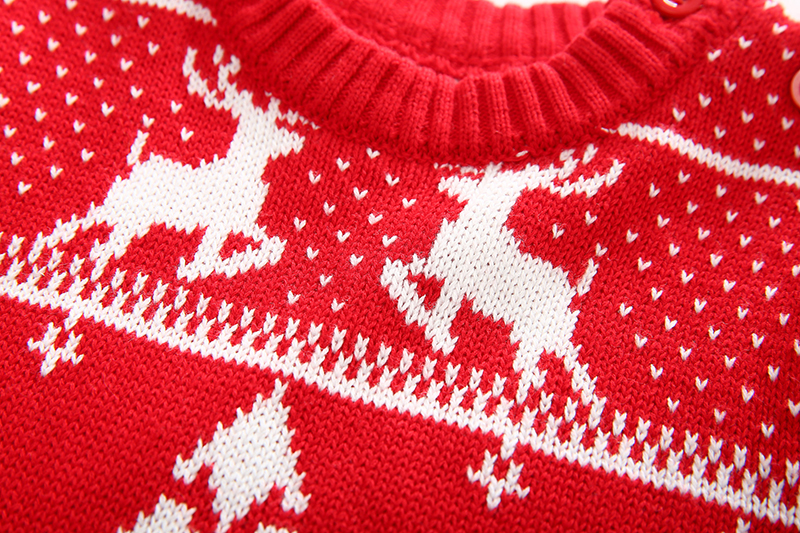 Christmas Baby Boys Girls Sweaters Winter 19 Toddler Baby Clothes With Deer Kids Christmas Sweater Embroidery Pull Fille Tops 10