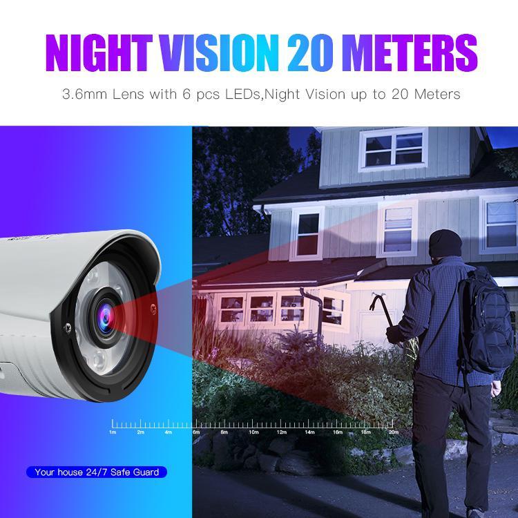 K22 Camera HD 1080P 2MP 4x Zoom Wireless Security  IP Camera Waterproof Night Vision IR-Cut H.264 Video Night Vision