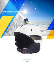 2019Hot sale Moon Goggles Strengthening Ski Snowboard Helmets Skiing Helmet For Adult and Kids Snow Helmet Safety Outdoor Sports propro horse riding ski helmets half covered men women capacetes de motociclista sports safety hat helmet skiing headwear