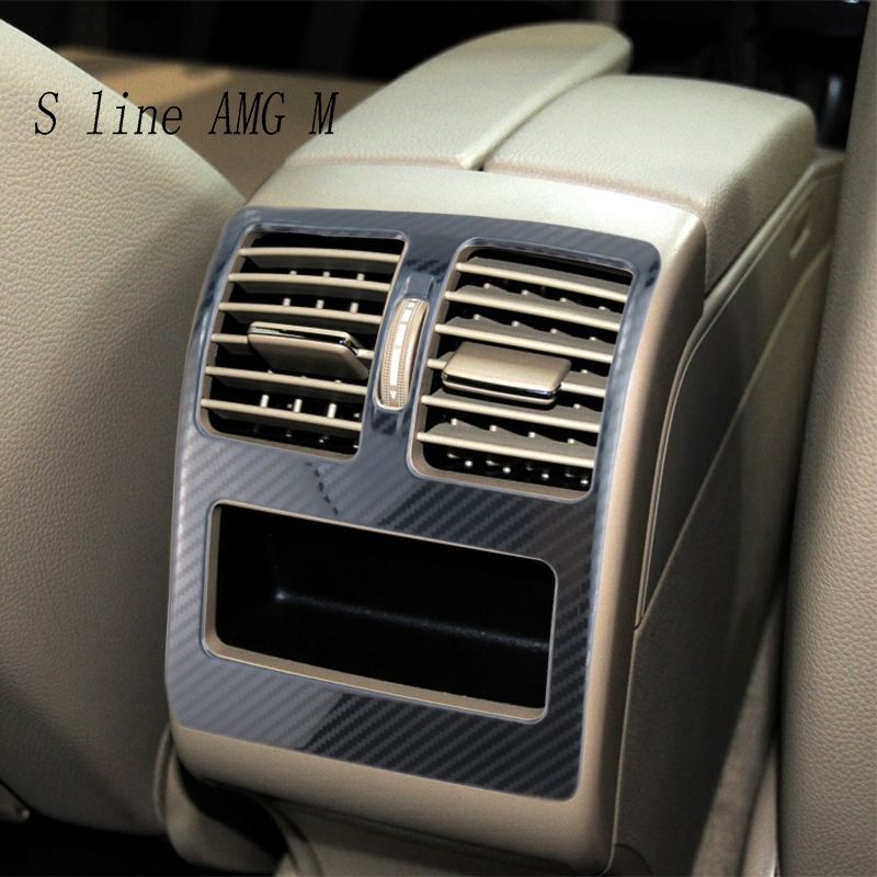 Carbon fiber for Mercedes Benz GLK X204 Accessories Auto Air Conditioning Outlet Vent Trim Interior Covers Stickers Car Styling image