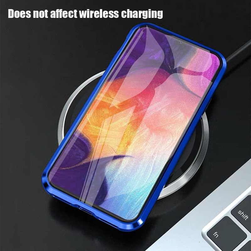 Magnetic Double Sided Glass Case For Samsung Galaxy A91 A81 A71 A51 A70 A50 A11 A31 S9 S8 S10 S20 Plus Ultra M31 M21 A30 A10