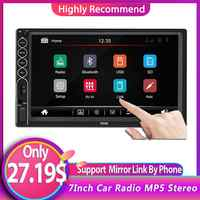 7Inch Car Radio MP5 Stereo Touch Screen Player 2 Din Auto radio Stereo Support Mirror Link Rear Camera For IOS/ Android Phone