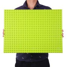 O tamanho grande duploed baseplate grandes blocos de construção da base 16*32 pontos 51*25.5cm compatível duploed animais brinca legalmente a placa base