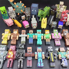 Minecraft Building Blocks Action Figure Steves Classic Collection game model Toys For Hot Sale Limb movable building blocks toy