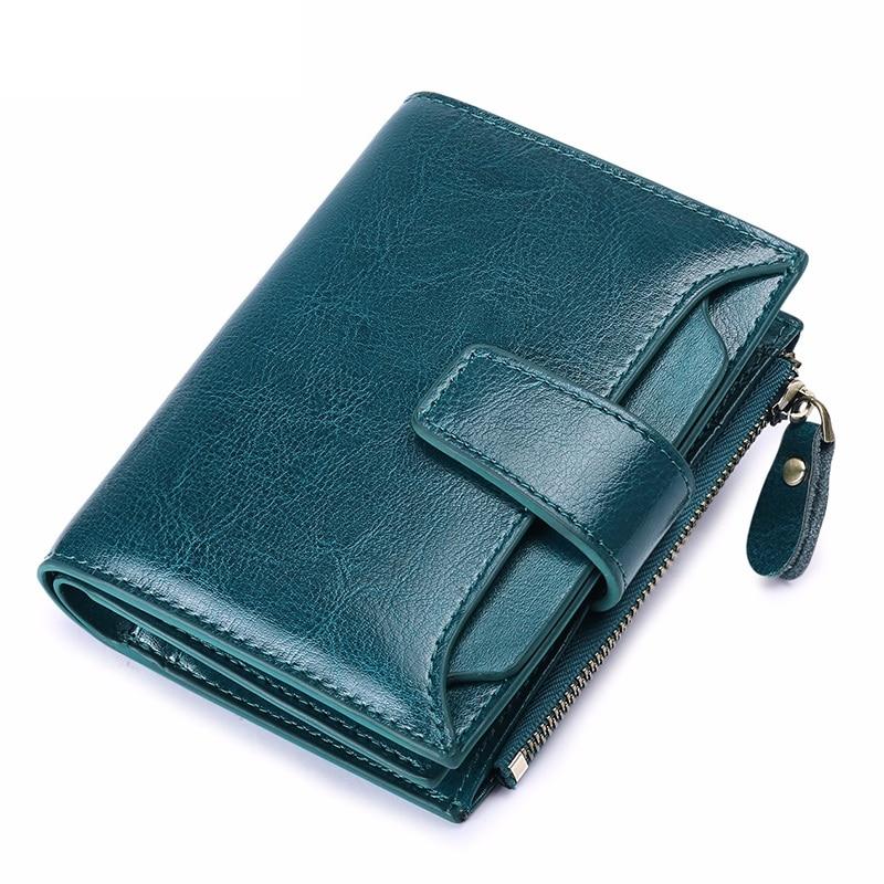 Women's Wallet Cow Leather Small Luxury Brand Wallet Women Short Zipper Ladies Coin Purse Card Holder Femme Wallet High Quality