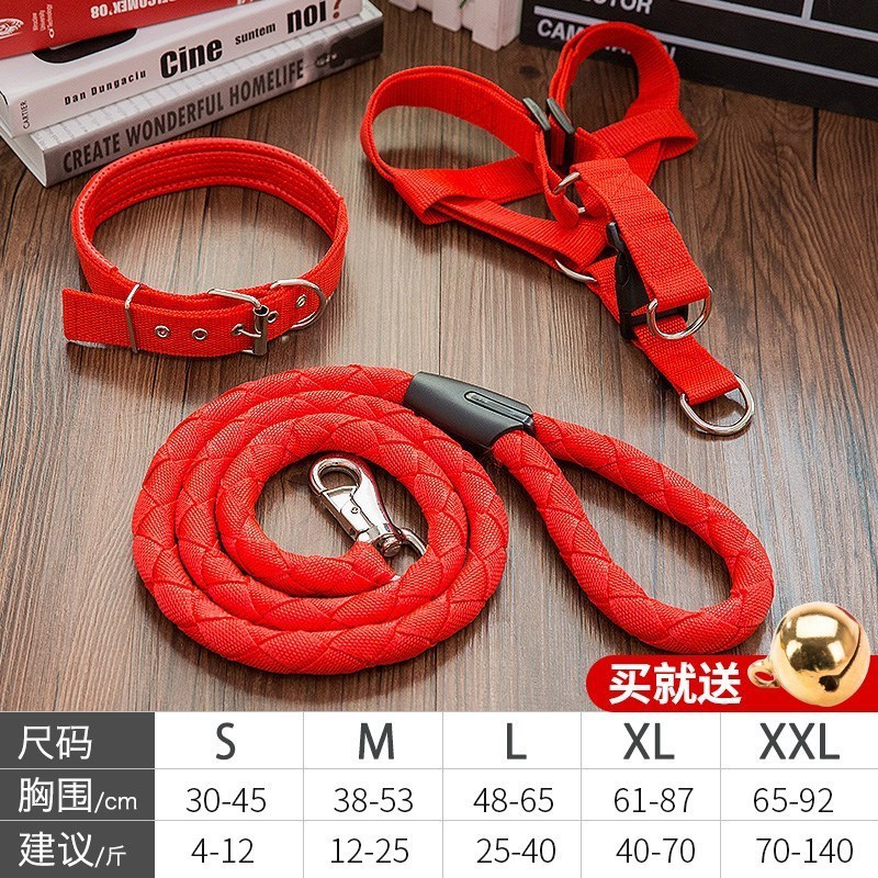 Teddy Anti-Bite Dog Hand Holding Rope Neck Ring Set Suppository Dog Small Iron Chain Chain Unscalable Dogs Tied Dog Rope