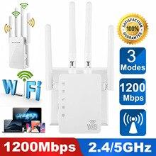 Beyaz 1200M çift frekans geliştirilmiş tekrarlayıcı kablosuz WiFi sinyal amplifikatörü 2.4 & 5.8G yüksek güç AP yönlendirme 110V 220V