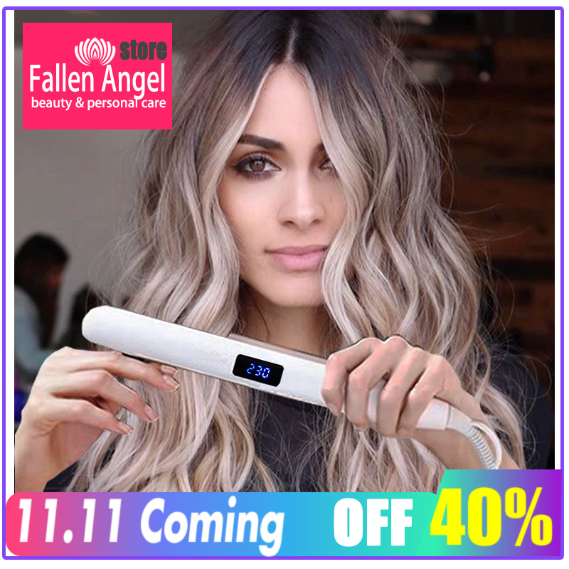 2020 New Concept Hair Straightener Iron Ceramic Straightening Corrugated Curling Iron Styling Tools Hair Curler