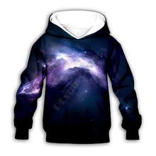Галактика 3d толстовки с капюшоном и принтом; Одежда для семьи