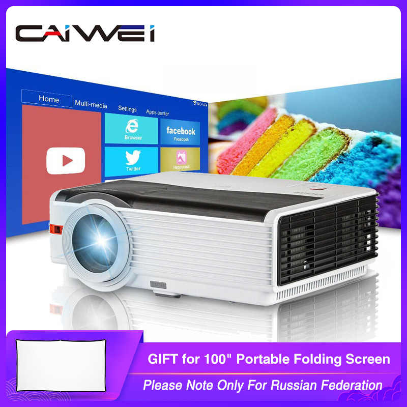 Caiwei A9/A9AB inteligentny Android WiFi LCD LED 1080p projektor kino domowe 8000 lumenów Full HD wideo mobilny Beamer dla Smartphone TV