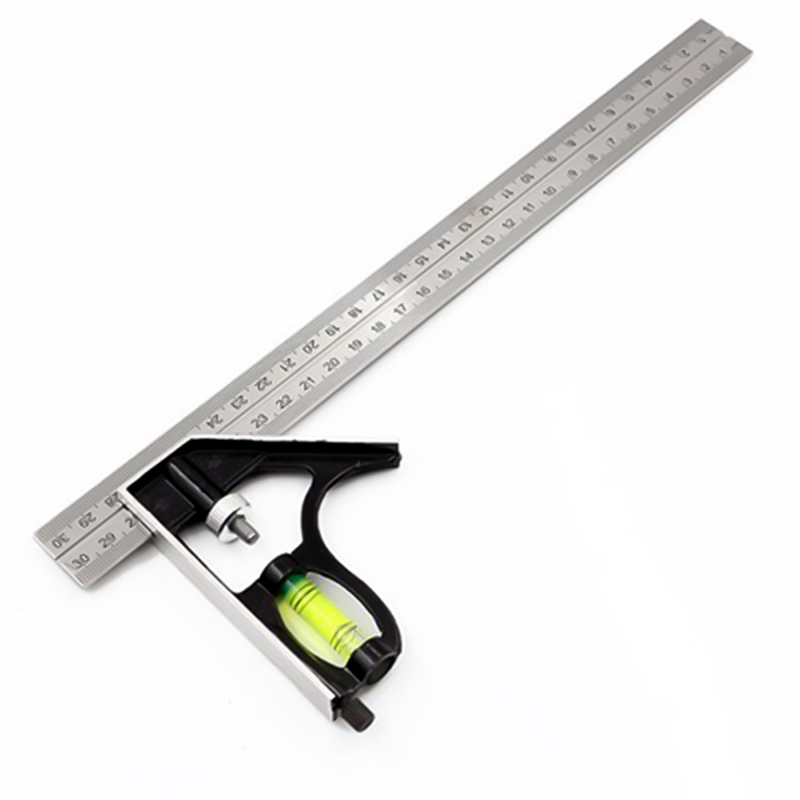 300mm Combination Square Angle Ruler Horizontal Moving Steel Rule Adjustable Multi-functional Measuring Tools Accessories