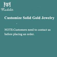 Kuololit personalizar anillo de oro amarillo de 14K