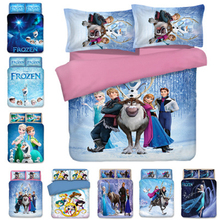 Girls Bedding Set Frozen Elsa Anna Double Queen King Size  Duvet Cover Twin Bed Linen Children Comforter Sets Luxury
