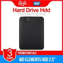 "Western Digital WD Elements Portable HDD Esterno hdd 1TB 2TB HDD da 2.5 ""USB 3.0 Hard Disk Drive 3TB 4TB Originale per il PC del computer portatile"