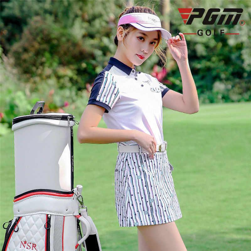 PGM ملابس النساء أعلى قميص قصيرة الأكمام الغولف تي شيرت الجافة مناسبا الرياضية تنس تنورة النساء الملابس مجموعة الرياضة جولف/ تنس الدعاوى