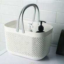 Многофункциональные плетеные корзины из ротанга для ванной и душа, пластиковые корзины для хранения, Великобритания