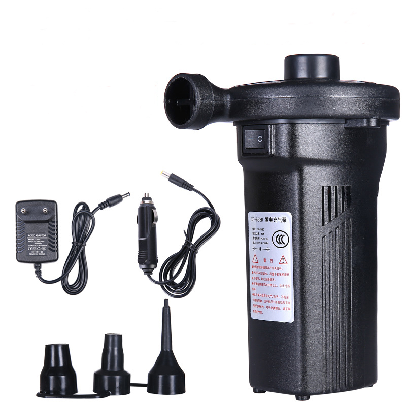 EU/UK/US Plug Rechargeable Electric1200mAh Air Pump Outdoor Electric Air Pump Fast Filling Portable Car Auto Inflate Air Mattres