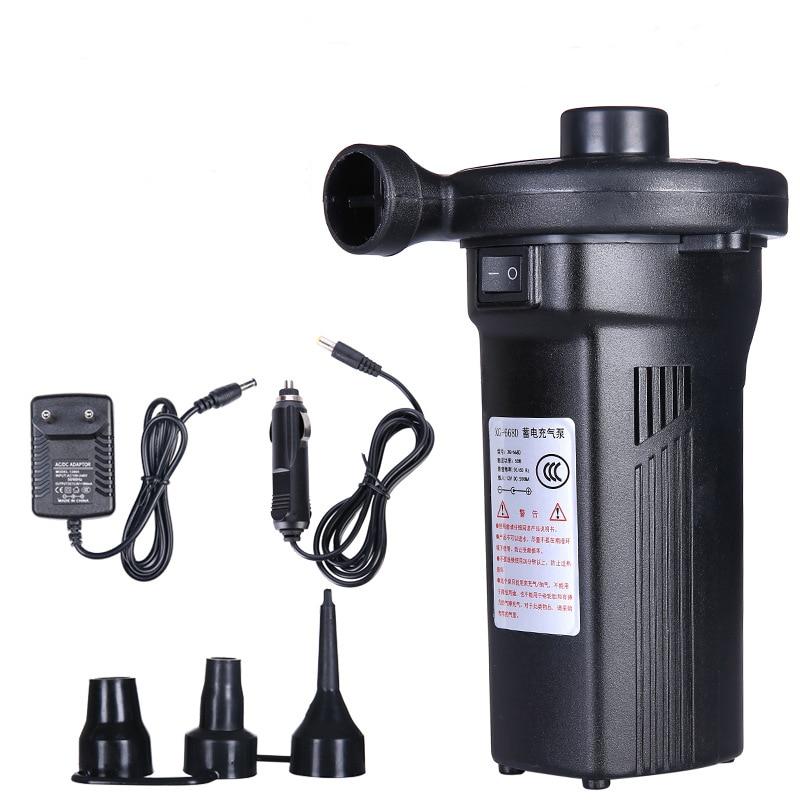 EU/UK/US Plug Rechargeable Electric1200mAh Air Pump Outdoor Electric Air Pump Fast Filling Portable Car Auto Inflate Air Mattres