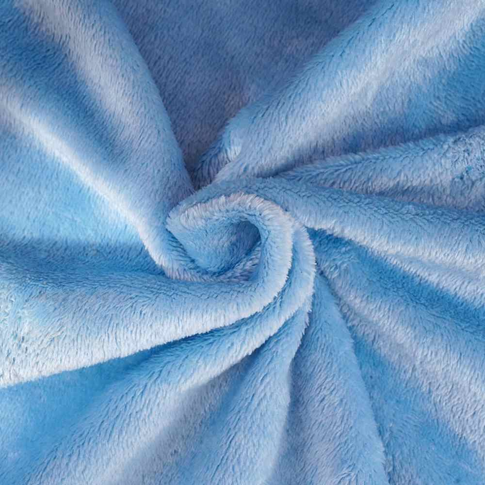 Doux chaud corail polaire couverture hiver drap couvre-lit canapé Plaid jeter taille légère couvertures mince lavage flanelle mécanique 70 * F8O7