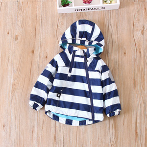 Image 4 - Coloré rayé chaud polaire bébé filles garçons vestes mode enfant manteau coupe vent vêtements dextérieur pour enfants enfants tenues pour 90 140cm