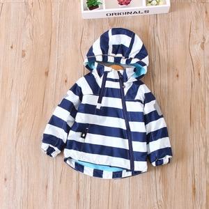 Image 4 - צבעוני פסים חם צמר תינוק בנות בני מעילי אופנה ילד מעיל Windproof ילדי הלבשה עליונה ילדי תלבושות עבור 90 140cm