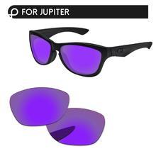 Papaviva плазменный фиолетовый зеркало поляризованные Сменные линзы для Jupiter Солнцезащитные очки Рамка UVA и UVB Защита