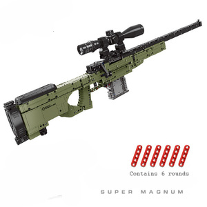 Nueva llegada 1491 Uds XingBaoblocks bloques militares Super Magnum AWM juguetes pistola para niños con espejo ocho veces