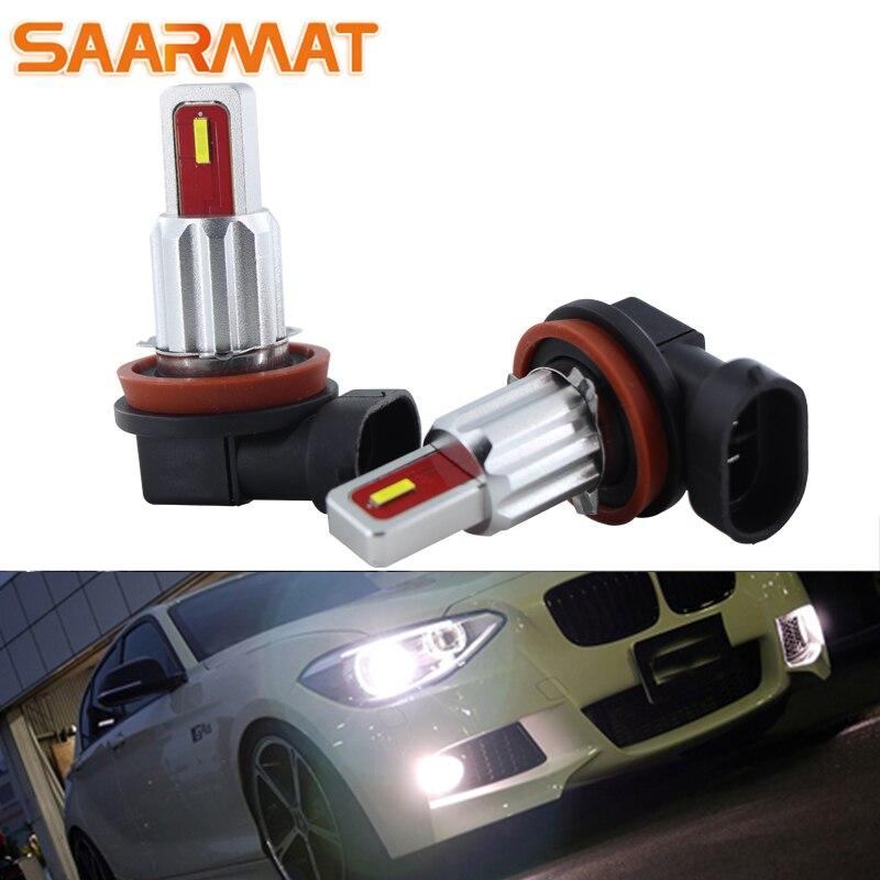 2PCS רכב LED ערפל מנורת H8 / H11 / H9CANbus הנורה עבור BMW E46 E90 E60 E39 X5 E53 e70 E36 X3 E83 E34 E92 E38 F30 F10