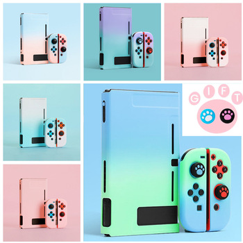 Detachable Colorful PC Case Fundas For Nintendos Nintend Switch NS NX Cases Hard Plastic Back Cover Shell Coque Ultra Thin 1