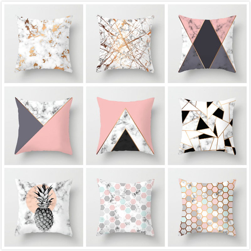 New Geometric Printed Pillow Case Cover Square 45cm*45cm Polyester Pillowcase Home Decorative