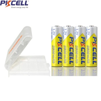 4PC x PKCELL AA Batteries NI-MH 2600Mah 1.2V AA Rechargeable Battery Batteries 2A Bateria Baterias with AA Battery Hold Case Box new arrival 4pcs pkcell 1 2v aa ni mh 2600mah lsd rechargeable batteries bateria pre charged batteries set with 1200 cycle