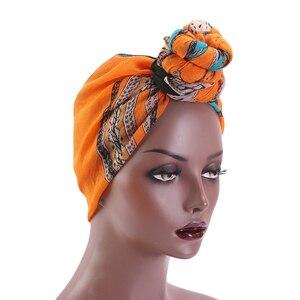 Женская шапочка, головной убор, Африканский тюрбан с принтом, женский головной убор, мусульманская повязка на голову, шарф, ночная шапка, шап...