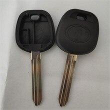 Сменный Чехол для ключа автомобиля для Toyota Camry Highlander Yaris eiz Transponder Key Shell TOY43 Blade с логотипом