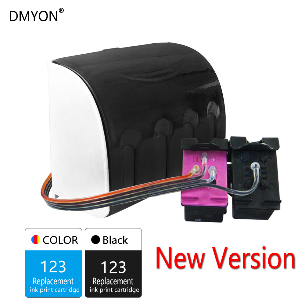DMYON 123 Continuous Ink Supply System Compatible for Hp 123 CISS for Deskjet 2620 2600 5212 5220 5230 5232 5258 5264 Printer