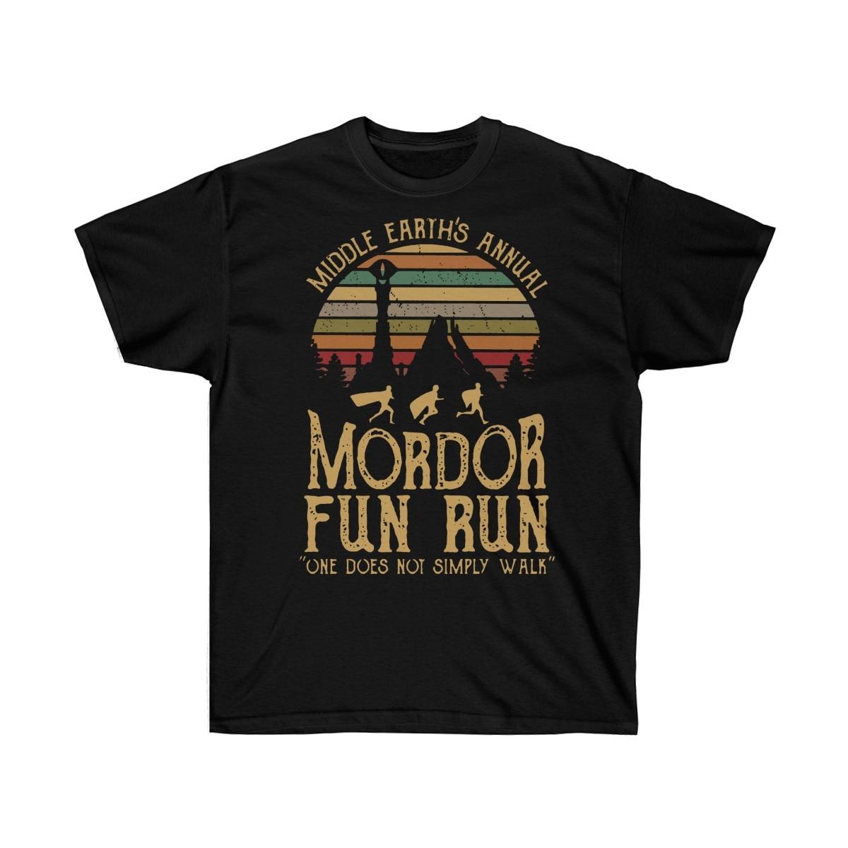Mordor Fun Run Shirt, Sunset Mordor Tshirt, LOTR Inspired Tshirt, Sauron Shirt, Geek Movie Tshirt, Running Motivation Tee,
