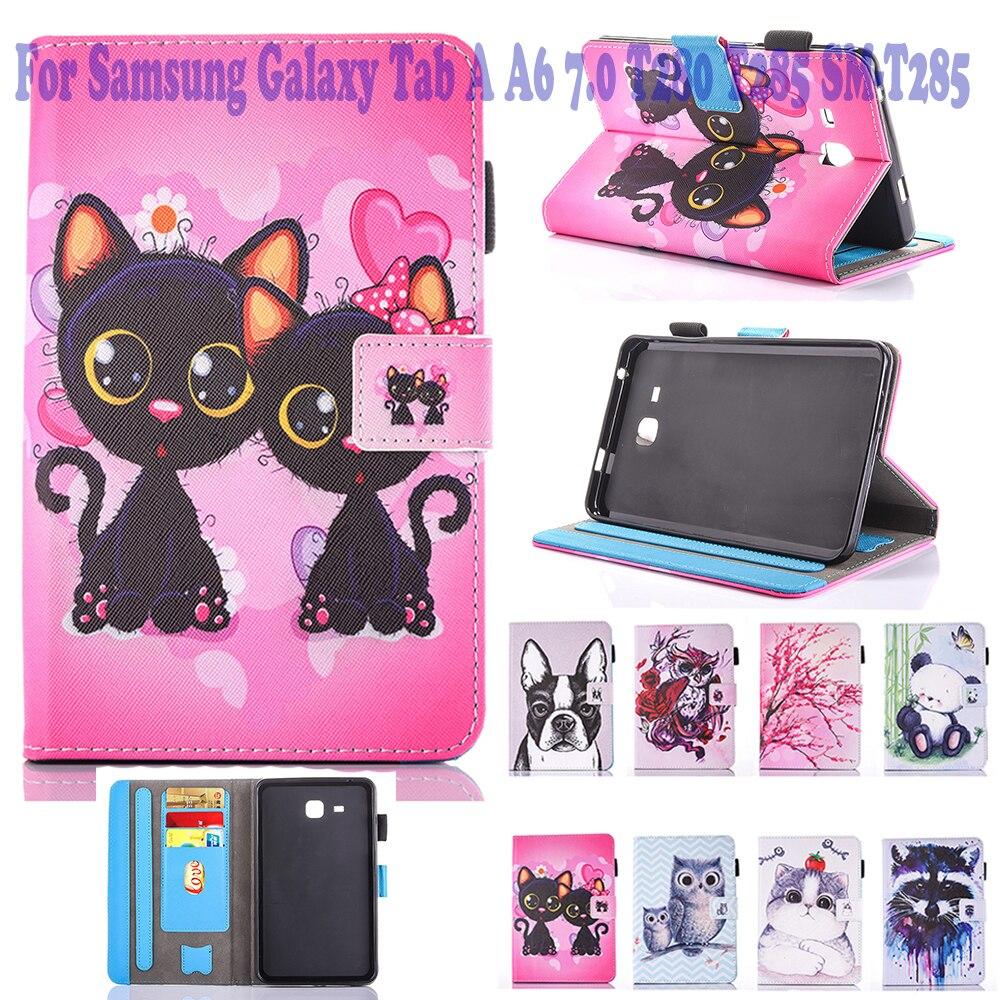 Moda gato unicórnio coruja 2016 tab 7.0 caso para samsung galaxy tab um 7.0 t280 t285 SM-T285 caso capa tablet silicone funda
