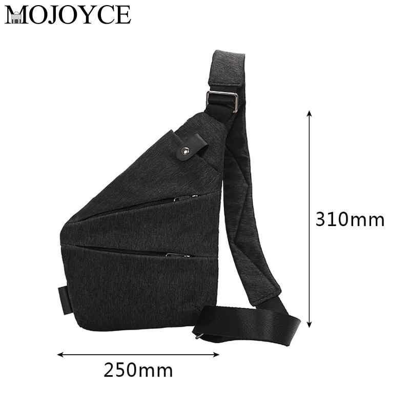 Nova moda cor sólida de linho lona saco peito simples sacos ombro único homens crossbody anti roubo masculino casual messenger blosas